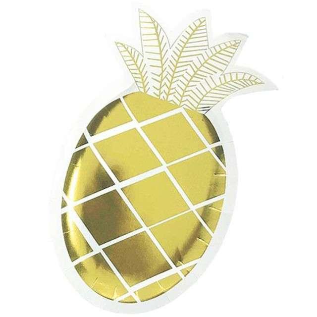 """Talerzyki papierowe """"Złoty Ananas"""", 25 cm, 6 szt"""