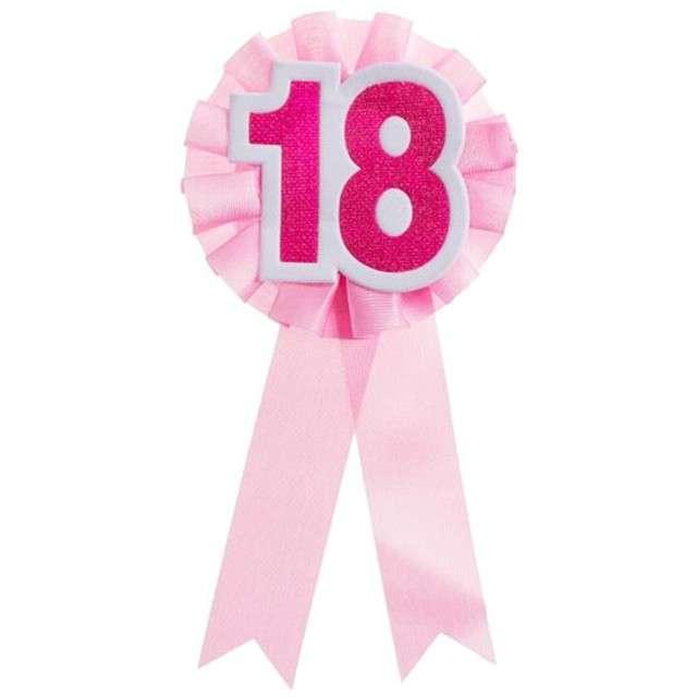 """Kotylion """"18 Urodziny"""", różowy, Godan"""