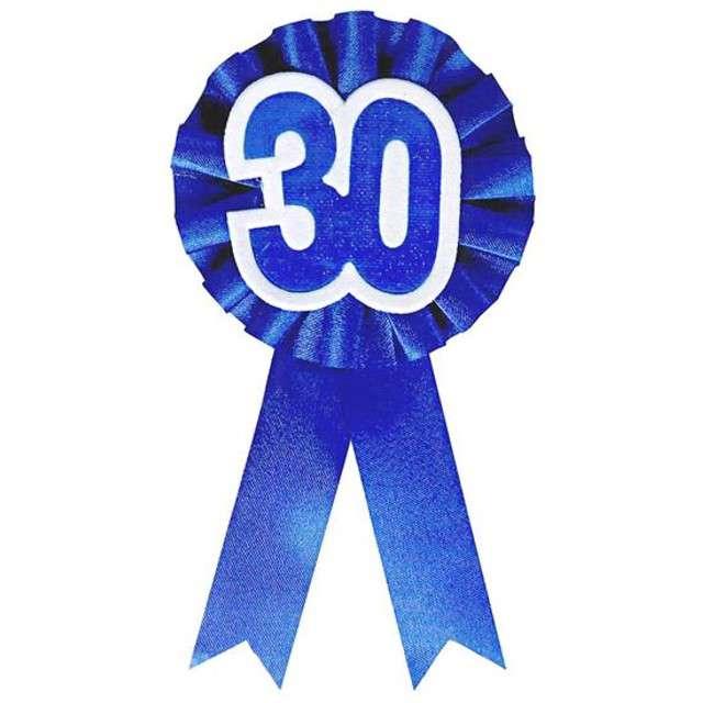 """Kotylion """"Urodziny 30"""", niebieski, Godan"""