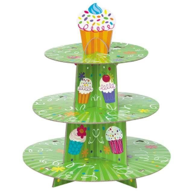 """Patera papierowa """"Cupcake Party"""", UNIQUE, 31 cm"""