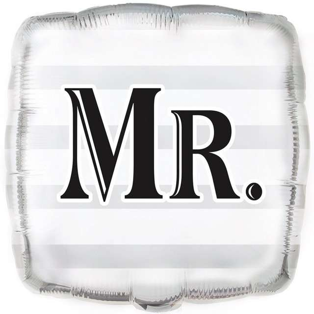 "Balon foliowy ""MR."", UNIQUE, 18"" SQR"