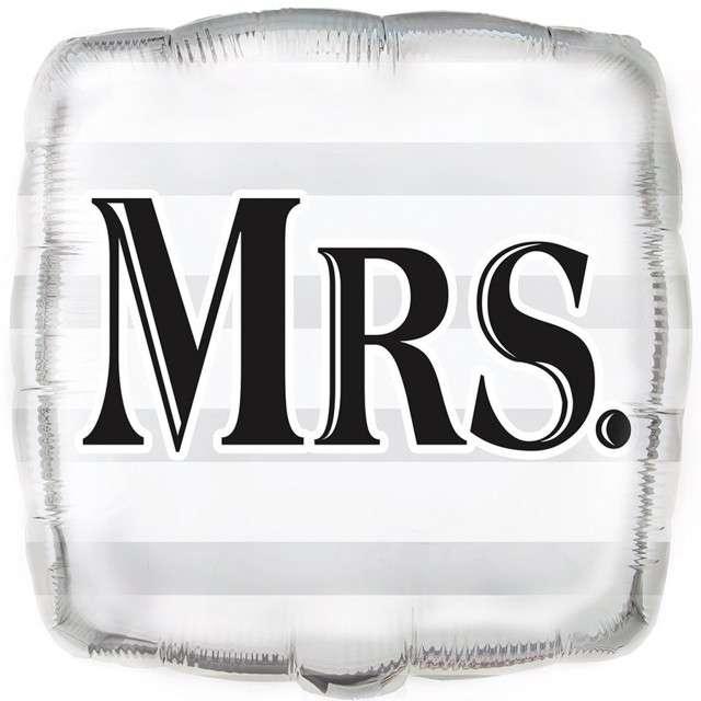 """Balon foliowy """"MRS."""", UNIQUE, 18"""" SQR"""