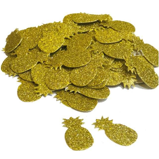 """Konfetti """"Ananas brokatowy"""", złote, GODAN, 18 g"""