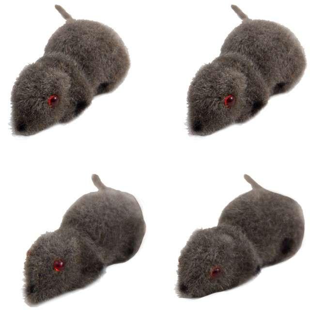 """Dekoracja """"Mała Mysz"""", szara, Folat, 4 szt"""