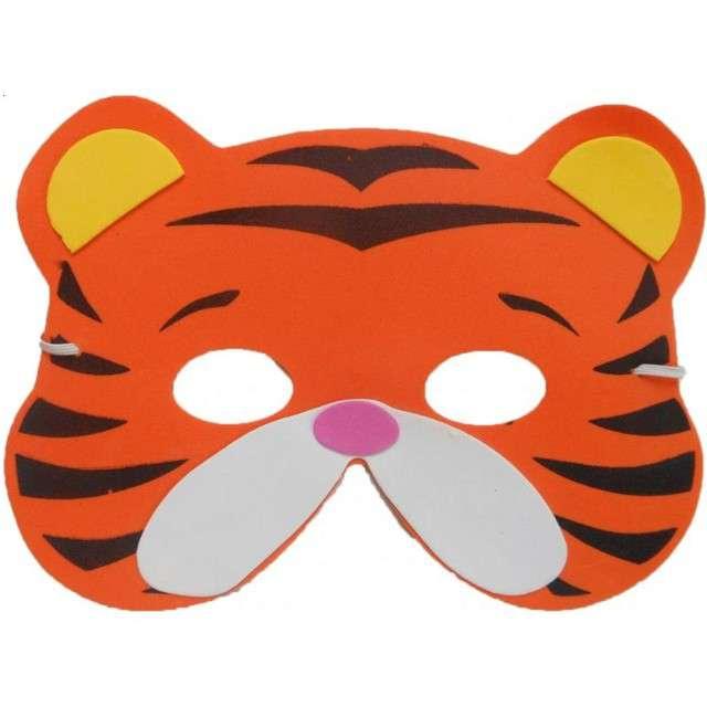 """Maska """"Tygrys"""", piankowa, Partytino"""
