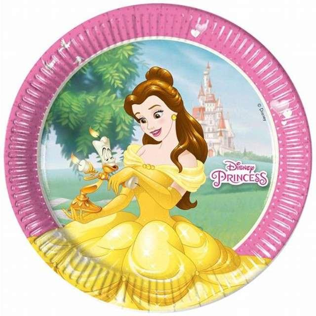 """Talerzyki papierowe """"Księżniczki Disneya"""", Procos, 23 cm, 8 szt"""