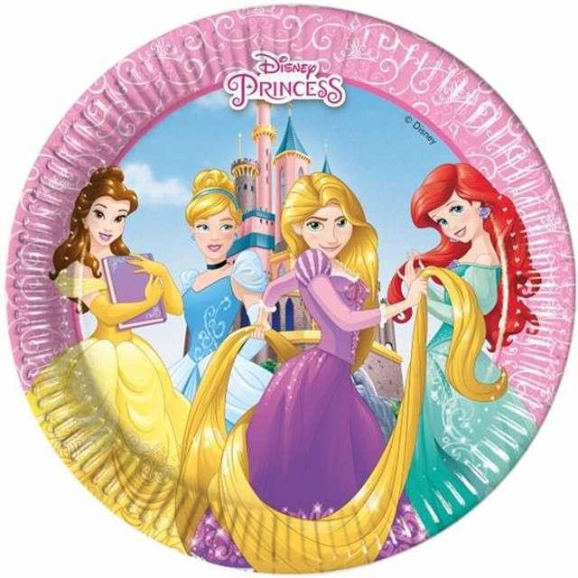 """Talerzyki papierowe """"Księżniczki Disneya"""", Procos, 20 cm, 8 szt"""