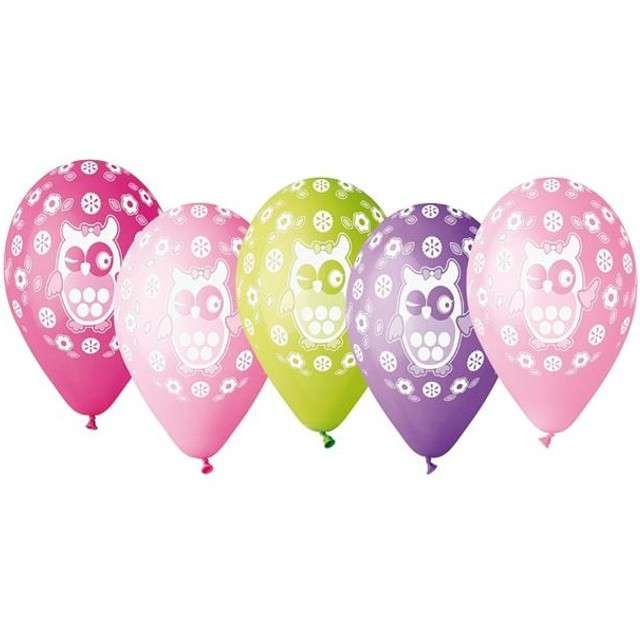 """Balony """"Sówki Premium"""", mix, Godan, 12"""", 5 szt"""