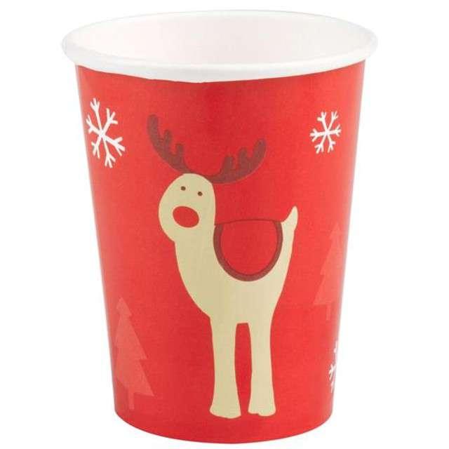 """Kubeczki papierowe """"Rocking Rudolf"""", Neviti, 230 ml, 8 szt"""