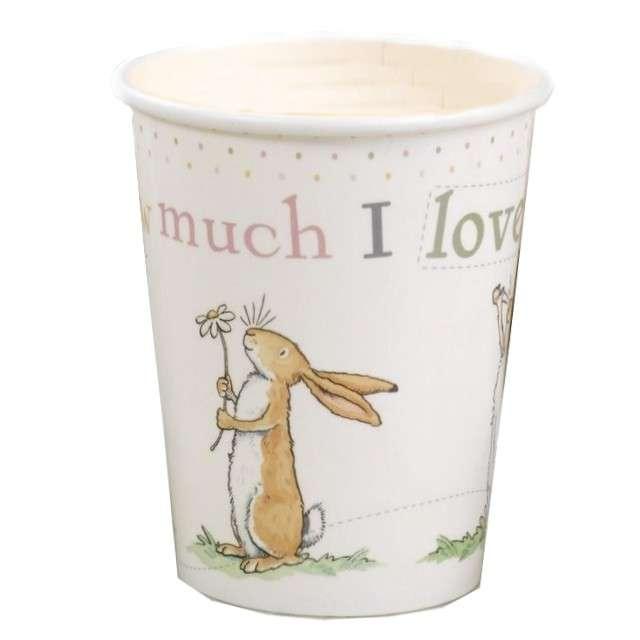 """Kubeczki papierowe """"Guess How Much I Love You"""", Neviti, 230 ml, 8 szt"""