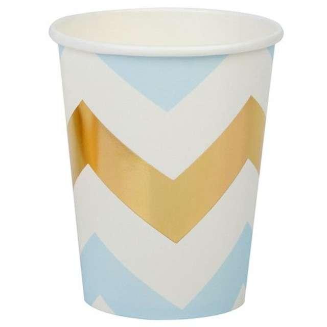 """Kubeczki papierowe """"Pattern Works - Blue Chevron"""", Neviti, 230 ml, 8 szt"""