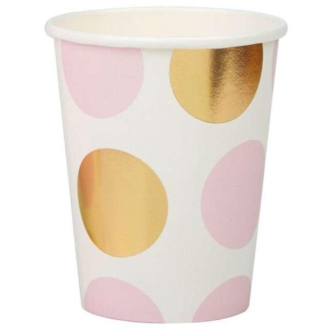 "Kubeczki papierowe ""Pattern Works - Pink Dots"", Neviti, 230 ml, 8 szt"