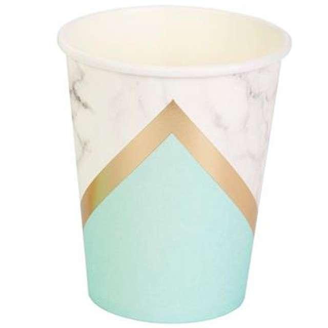 "Kubeczki papierowe ""Colour Block - Mint"", Neviti, 230 ml, 8 szt"