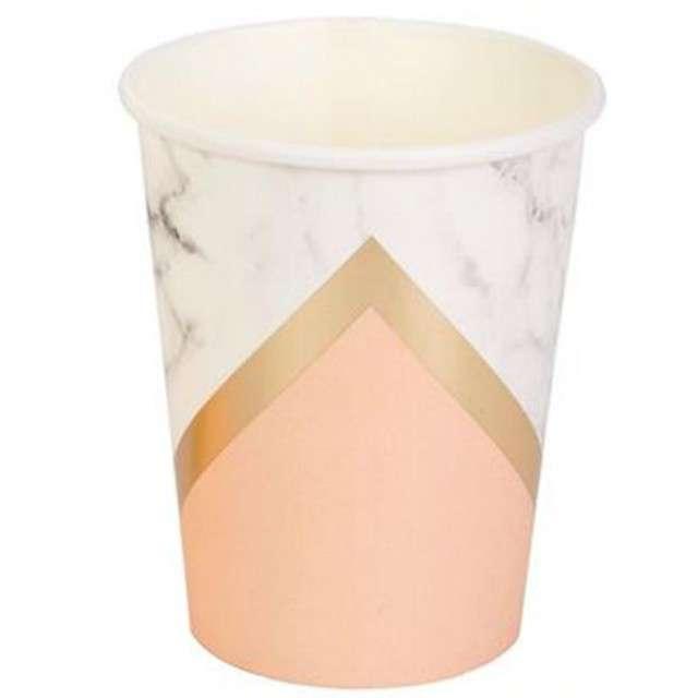"Kubeczki papierowe ""Colour Block - Peach"", Neviti, 230 ml, 8 szt"