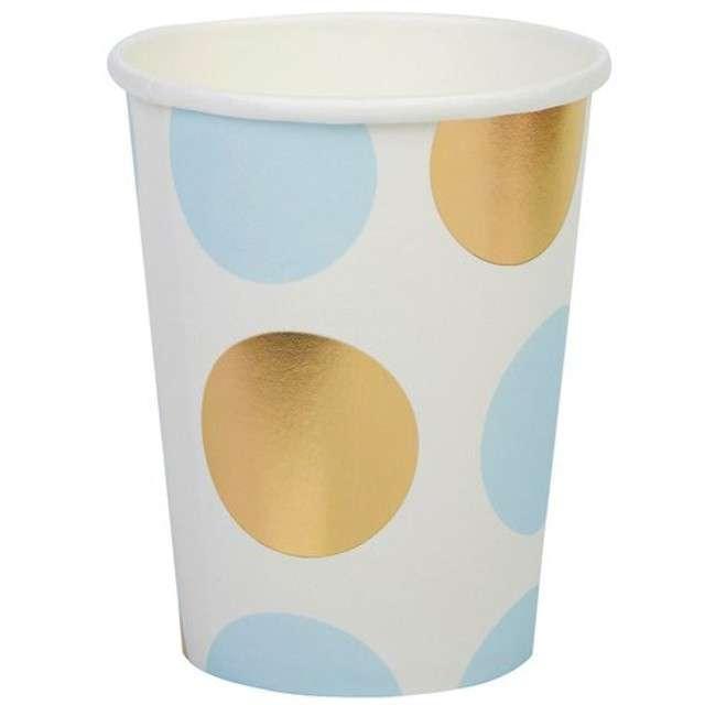 "Kubeczki papierowe ""Pattern Works - Blue Dots"", Neviti, 230 ml, 8 szt"