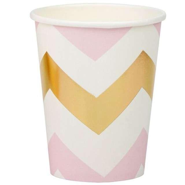"Kubeczki papierowe ""Pattern Works - Pink Chevron"", Neviti, 230 ml, 8 szt"