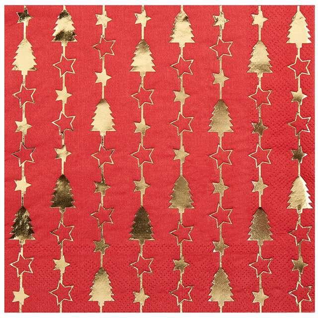 "Serwetki ""Dazzling Christmas"", NEVITI, 33 cm, 16 szt"