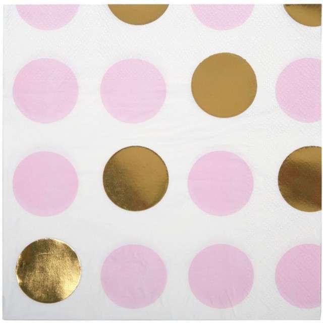 "Serwetki ""Pattern Works - Pink Dots"", NEVITI, 33 cm, 16 szt"