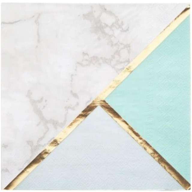 """Serwetki """"Colour Block - Mint"""", NEVITI, 33 cm, 16 szt"""