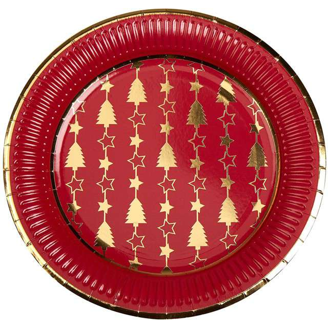 """Talerzyki papierowe """"Dazzling Christmas"""", Neviti, 23 cm, 8 szt"""