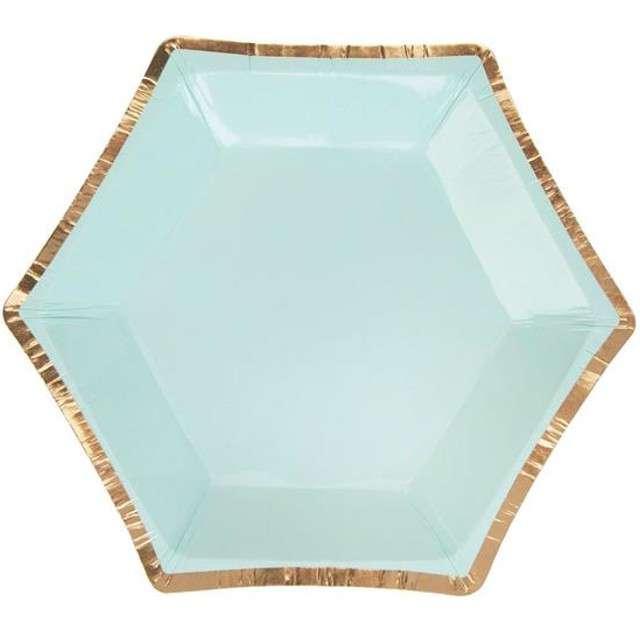 "Talerzyki papierowe ""Colour Block Plate - Mint"", Neviti, 12,5 cm, 8 szt"