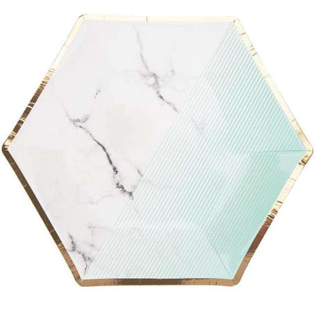 "Talerzyki papierowe ""Colour Block Plate - Mint"", Neviti, 20 cm, 8 szt"