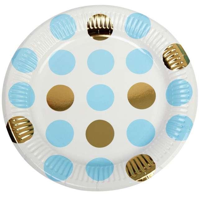 "Talerzyki papierowe ""Pattern Works - Plate Blue Dots"", Neviti, 23 cm, 8 szt"