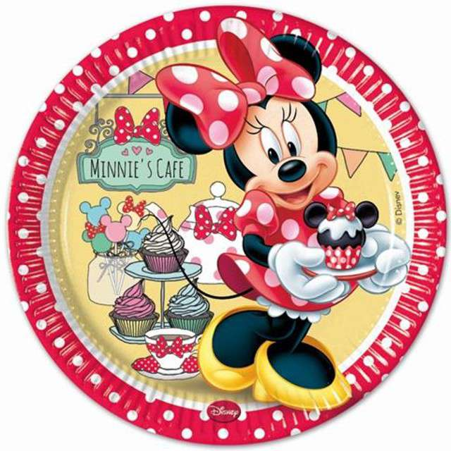 """Talerzyki papierowe """"Minnie Cafe"""", PROCOS, 23 cm, 8 szt"""