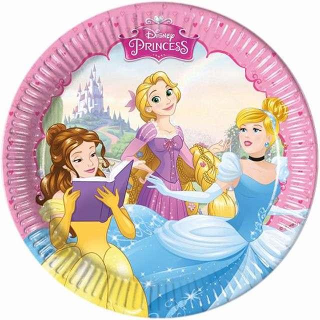 """Talerzyki papierowe """"Księżniczki Disneys"""", Procos, 20 cm, 8 szt"""