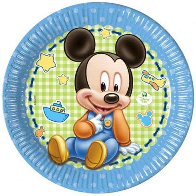 """Talerzyki papierowe """"Mickey Baby"""", Procos, 23 cm, 8 szt."""