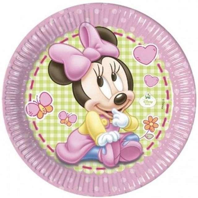 """Talerzyki papierowe """"Minnie Baby"""", Procos, 23 cm, 8 szt."""