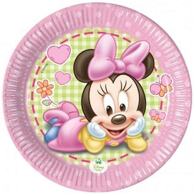 """Talerzyki papierowe """"Minnie Baby"""", Procos, 20 cm, 8 szt."""