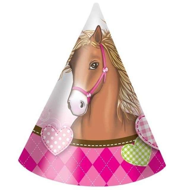 "Czapeczki papierowe ""Horses"", PROCOS, 6 szt"