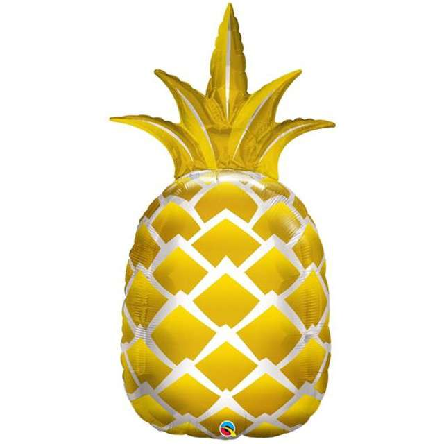 "Balon foliowy ""Ananas"", QUALATEX, 44"" SHP"