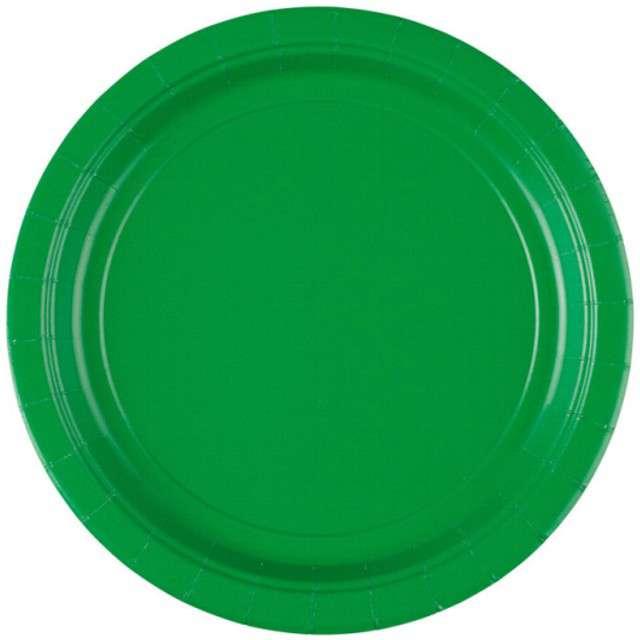 """Talerzyki papierowe """"Premium AMSCAN L"""", zielone, 22,8 cm, 8 szt"""