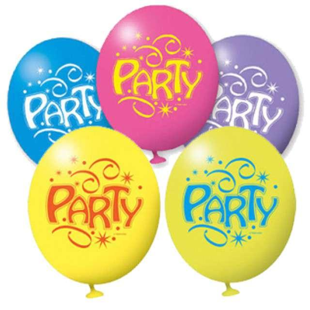 """Balony """"Party"""", 9"""", AMSCAN, mix pastel, 5 szt"""