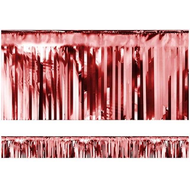 """Girlanda """"Frędzle Lameta"""", PartyDeco, czerwona, 400 x 18,5 cm"""