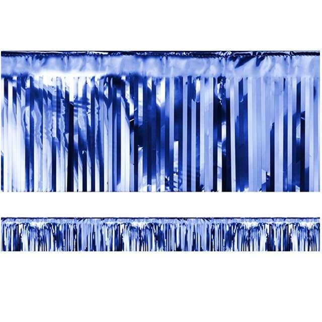"Girlanda ""Frędzle Lameta"", PartyDeco, niebieska, 400 x 18,5 cm"