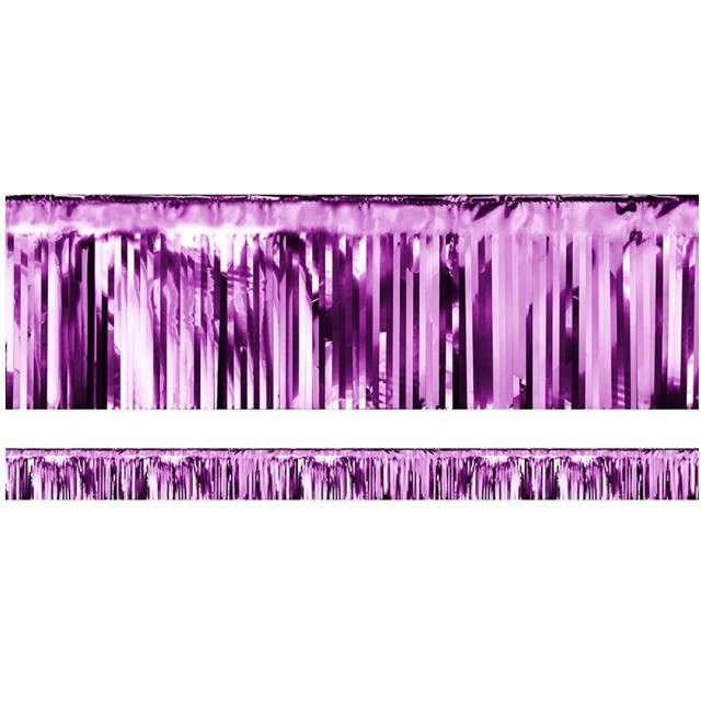 """Girlanda """"Frędzle Lameta"""", PartyDeco, purpurowa, 400 x 18,5 cm"""