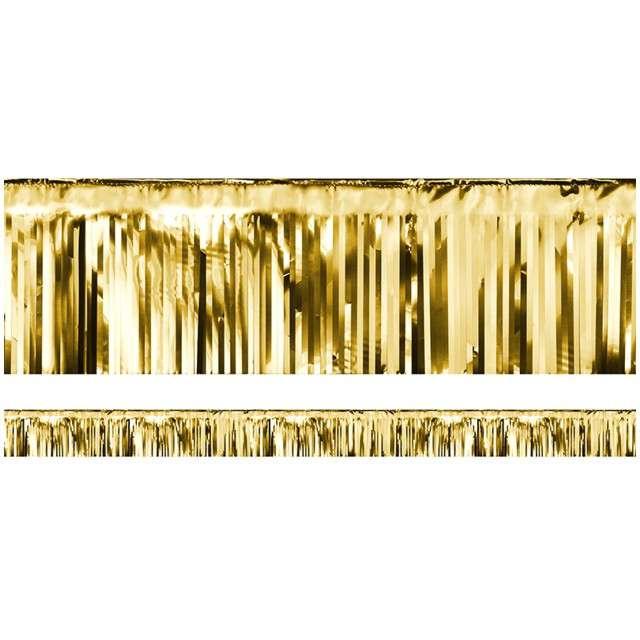 """Girlanda """"Frędzle Lameta"""", PartyDeco, złota, 400 x 18,5 cm"""