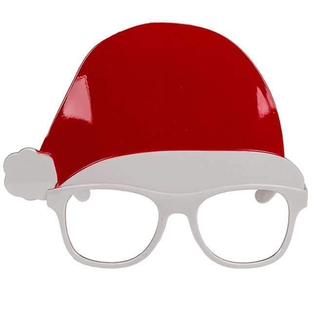 """Okulary party """"Święty Mikołaj w czapce"""", OOTB"""