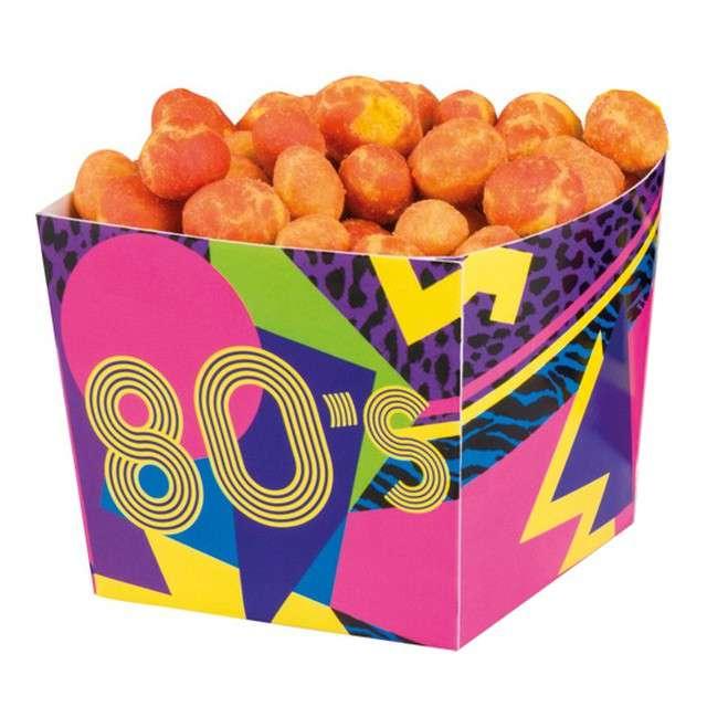 """Pudełka na popcorn """"Disco 80s"""", Boland, 400 ml, 6 szt"""