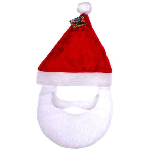 """Czapka """"Święty Mikołaj z brodą i wąsami"""", KRASZEK"""