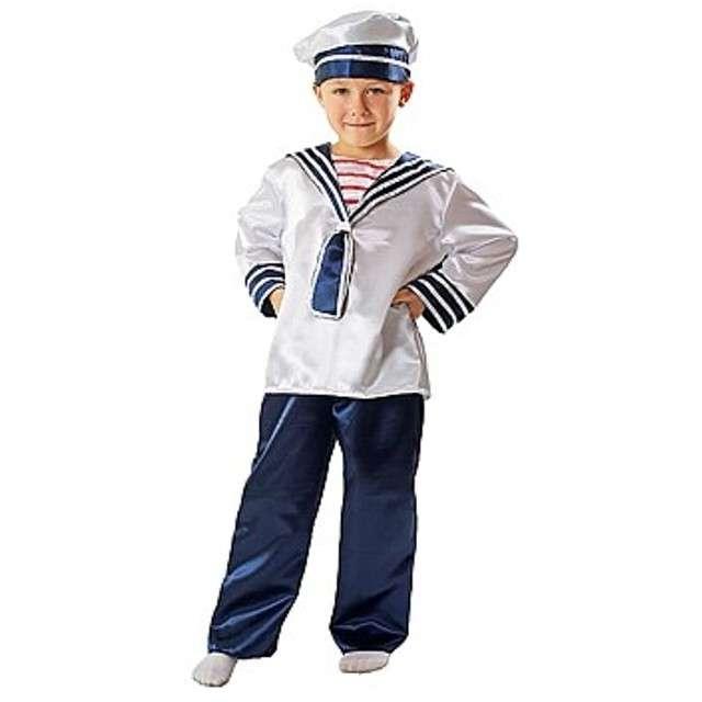 """Strój dla dzieci """"Marynarz z czapką"""", rozm. 98/104 cm"""