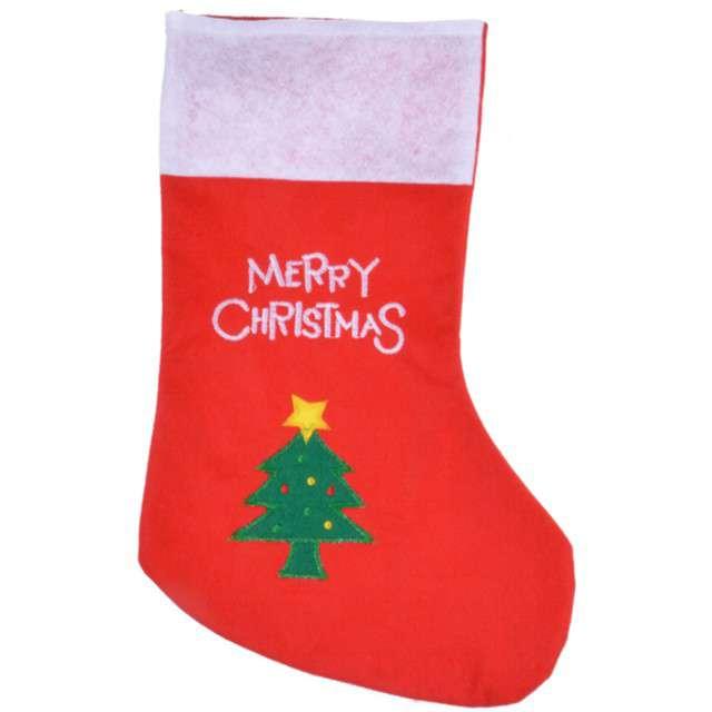"""Skarpeta na prezenty """"Merry Christmas Choinka"""", 40x20 cm, Arpex"""