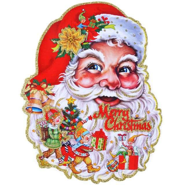 """Dekoracja wisząca """"Mikołaj Merry Christmas"""", dwustronna, Arpex"""