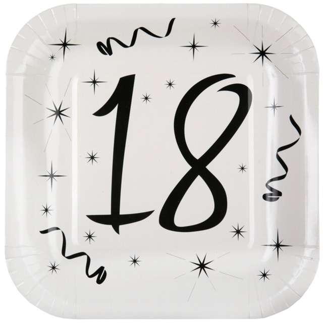 """Talerzyki papierowe """"18 White"""", SANTEX, 23 cm, 10 szt"""