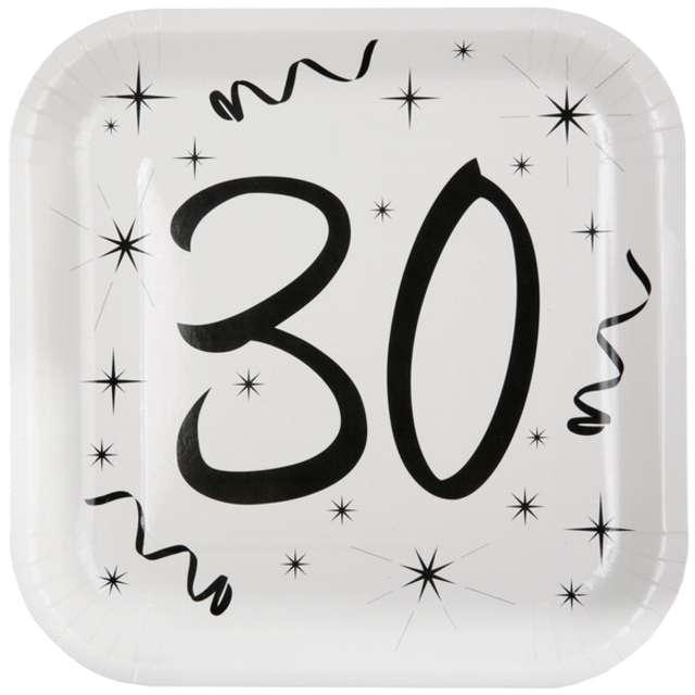 """Talerzyki papierowe """"30 White"""", SANTEX, 23 cm, 10 szt"""