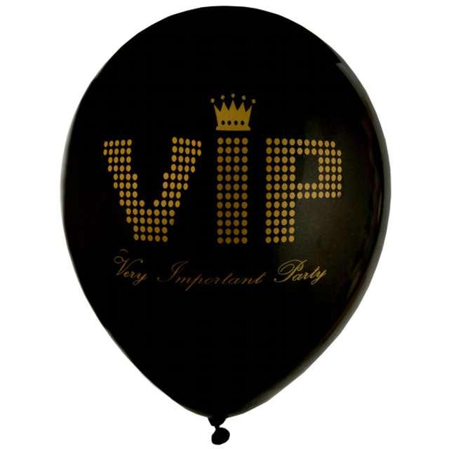 """Balony """"VIP BLACK"""", czarny, SANTEX, 9"""", 8 szt"""