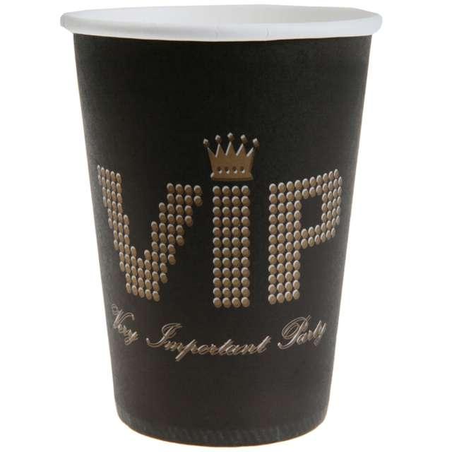 """Kubeczki papierowe """"VIP Black"""", SANTEX, 250 ml, 10 szt"""